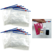 12 Plastic Travel Bags Zipper Lock Top Seal Airline Tsa Pouch Carry On Ziplock