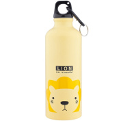 "Lux Accessories Yellow Lion "" Life is Beautiful"" Sports Gym Beach Water Bottle"