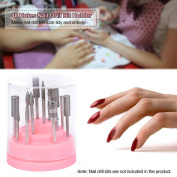 Alonea 48Hole Pink Organiser Manicure Box Displayer Nail Drill Bit Holder Stand