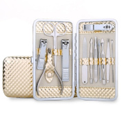 Aosbos 12 in 1 Manicure Pedicure Set Stainless Steel Nail Clipper Set Nail Care Tools with Case