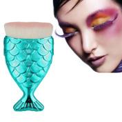 Toraway Pro Cosmetic Fish Scale Makeup Brush Fishtail Bottom Brush Powder Blush Makeup Brushes Tool