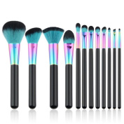 Toraway 12PCS Cosmetic Makeup Brush Brushes Set Foundation Powder Eyeshadow Brushes
