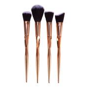 Face Brushes Makeup Gold,Molie 4PCS Professional Powder Foundation Contour Kit Cosmetic Brush Set