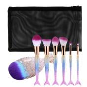 Vovomay Makeup Brushes, Make Up Set Soft Toothbrush Beauty Brush Foundation Eyebrow Concealer Cosmetic Eyeshadow Brushes Kits