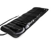 TTRWIN Professional 32pc Make Up Brush Kit Leathered Travel Case Beauty Brushes Set