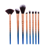 King Love Star In Stock 8 Pcs/Set Fish scales Makeup Brush Professional Cosmetic Foundation Blush Concealer Fan Brush