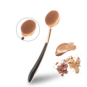 MEYSHAR Large Powder Brushes Oval Toothbrush Makeup Professional Brush with Soft Hairs Made of Premium Synthetic Fibre for a Whole Makeup Brush Electroplated Rose Gold Handle