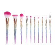 Toraway 10Pcs Pro Makeup Cosmetic Brushes Set Powder Foundation Eyeshadow Lip Brush