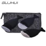 Start Black 3PC/Set Brush Fish Scale Fishtail Powder Foundation Makeup Cosmetic All Shapes Brush & Bag