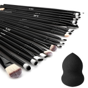 DRQ Eyeshadow Brushes|20 Pieces Pro Makeup Eye Brush Set Powder Foundation Eyeshadow Eyeliner Lip Cosmetic Brushes with 1pcs Makeup Blender Comestic Sponge