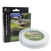 Weight Forward Fly Fishing Line WF 3F 5F 7F 30m (Moss Green) + 14kg Backing 50YDS + 2.7m Leader