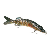 Himenlens F8J01 Multi Jointed Swimming Life Fish Swimbait Hard Fishing Lure Bass Bait More Colours