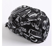 Yeah67886 Creative Turban Chefs Hat Ribbon Cap Catering Skull Cap for Kitchen