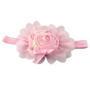 Nalmatoionme Girl Baby Chiffon Pearl Rose Flower Photography Prop Headband