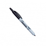 Retractable Sharpie Pen - Black