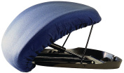 Carex - Upeasy Seat Assist Plus Manual Lifting Cushion, Navy Blue