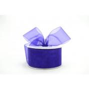 Plum Purple 3.8cm . Wide Sheer Organza Ribbon