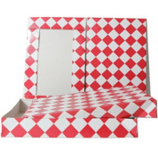 JAM Paper® Gift Box - 28cm x 43cm x 6.4cm - Red & White - Sold individually