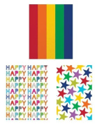 Rainbow Colours Tissue Wrapping Paper by Design Design - 3 Assorted Packs