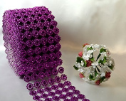 Ben Collection 10cm X 10 Yards (9.1m) Flower Mesh Rhinestone Ribbon Wrap for Wedding, Party, and Events Decoration