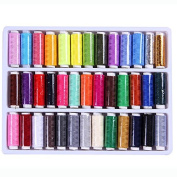 39 x200 Yard/Reel Mixed Colours Spools Polyester Sewing Thread For Hand & Machine