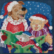 Carolling Trio Beaded Counted Cross Stitch Kit Mill Hill Buttons & Beads 2017 Winter Series MH141731