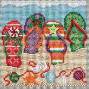 Holiday Flip Flops Beaded Counted Cross Stitch Kit Mill Hill Buttons & Beads 2017 Winter Series MH141735