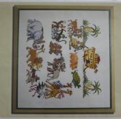 Noah's Ark, Permin of Copenhagen Cross Stitch Chart Danish Art Needlework