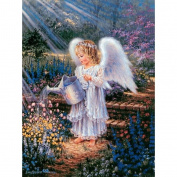 Ukerdo DIY the Angel Watering Pictures Handmade Diamond Painting Wall Decoration