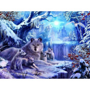 Ukerdo DIY Snow Wolves Diamond Painting Decoration Wall Art Pictures for Living Room