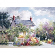 Ukerdo DIY Floral Homeland Diamond Painting Wall Art Pictures for Living Room