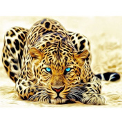 Ukerdo DIY Handmade Diamond Painting Leopard Wall Pictures Home Decoration