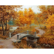 Ukerdo DIY Autumn Landscape Pictures Diamond Painting Wall Art for Living Room