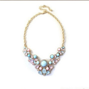 Meolin Flower Floral Necklace Collar Chian Necklace