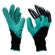 Garen Genie Gloves with Claws, Unisex Clawed Easy Gardening Gloves with Fingertips for Garden Digging Planting