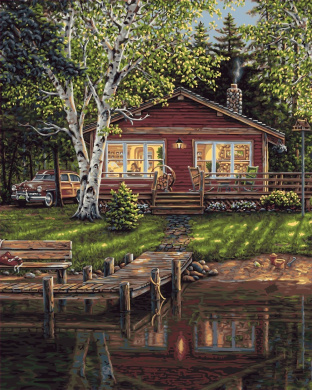 Plaid Creates Simpler Times Paint by Number Kit