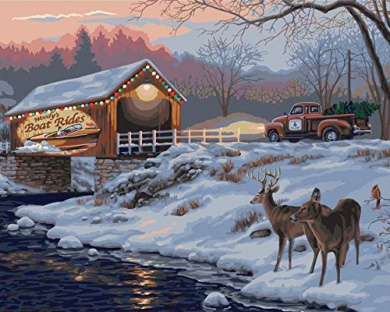 Plaid Creates Holiday Traditions Paint by Number Kit