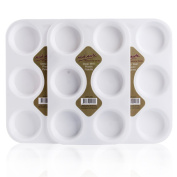 Mont Marte Deep Well Plastic Palette 6 hole - 6pack