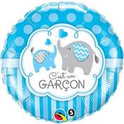 Qualatex C'est Un Garcon Bleu Elephant 46cm Foil Balloon