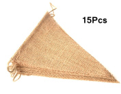 15Pcs Triangle Burlap Banner Flags,DIY Decoration for Wedding and Party
