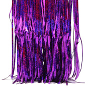 Peachshop 1m x 3m Foil Fringe Curtain for Wedding Room Background Wall Party Supplies