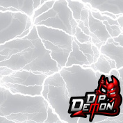 WHITE LIGHTNING HYDROGRAPHIC WATER TRANSFER FILM HYDRO DIPPING DIP DEMON