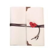 Guwheat Handmade DIY Scrapbook, Retro Family Anniversary Adhesive Photo Album/Wedding Photo Book with Gift Box