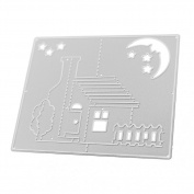 Diamondo Cutting Dies Stencil 3D Stereo House Family Moon Scrapbook Greeting Card