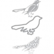Recollections Cut & Emboss 3 pc die set Birds