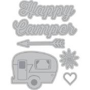 Recollections Cut & Emboss 6 pc die set Happy Camper, Sun, Arrow, Heart