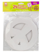 Creative Hands Paper Shape, Peace Sign and Flower, 24 Pack