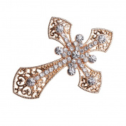 MonkeyJack 5 Piece Rhinestone Cross Shape Embellishments for Brooches Clothes Decoration Flatback Scrapbooking Crafts