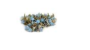 Star Brads Pastel Blue Stars Mini Brads - 100ct - Scrapbooking