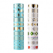 AGU 20 Rolls Foil Gold Washi Tape Set ,Decorative Adhesive Tape for DIY Crafts and Gift Wrapping